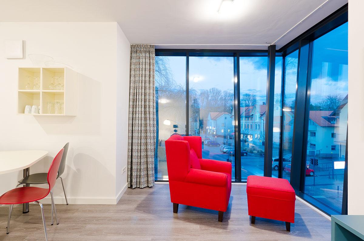 Apartment Premium Wohnzimmer und Erker