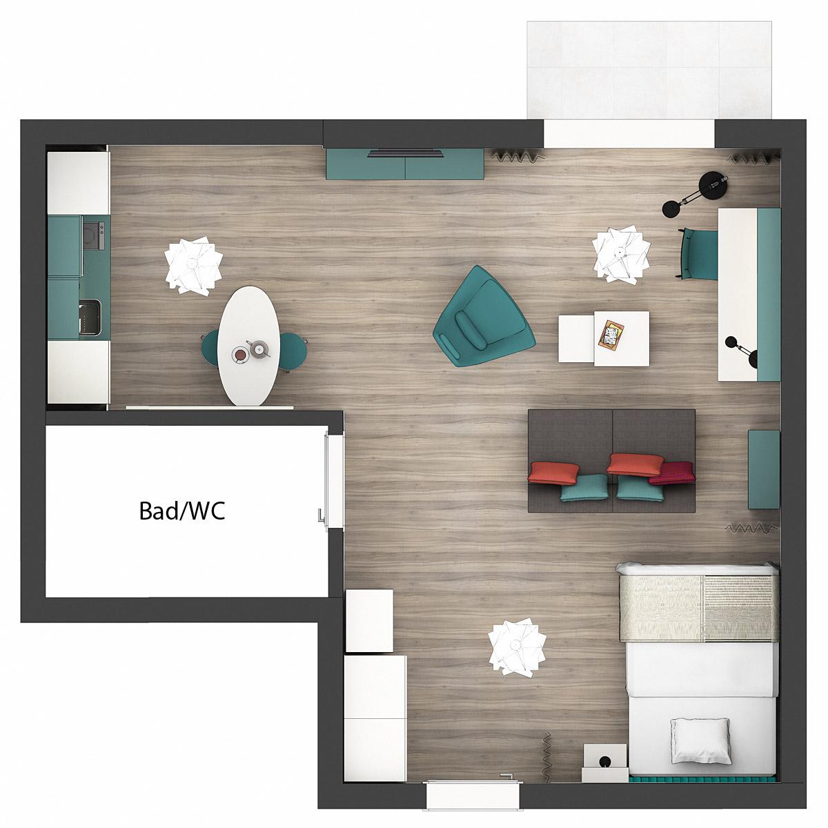 Grundriss Apartments Comfort