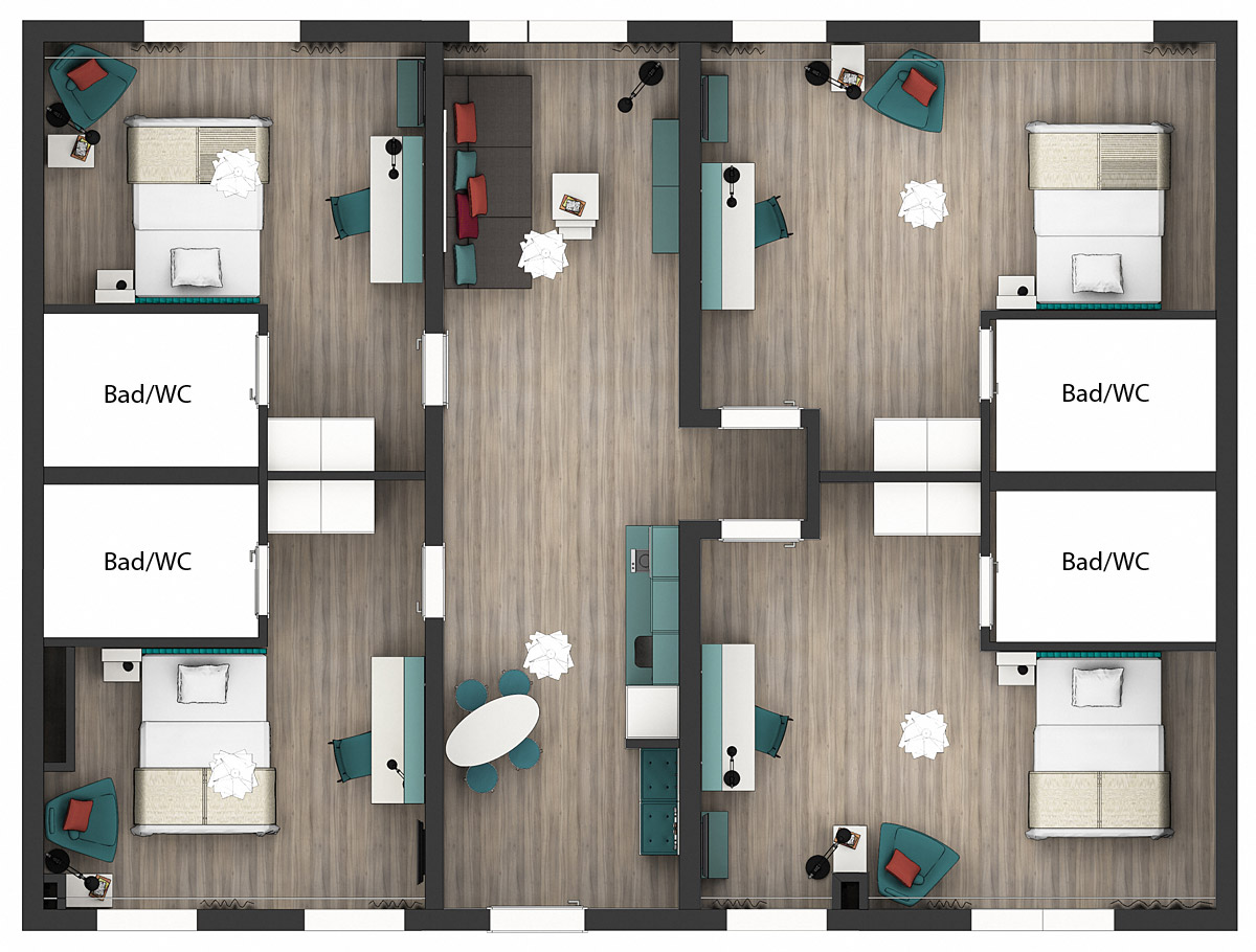 Grundriss Apartments Economy