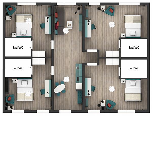 Grundriss Gemeinschaftswohnung Apartments Economy